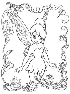 tinkerbell coloring page. Also check out my shop for cute party favors www.partiesandfun.etsy.com