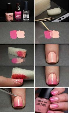 Love this pink ombre. Gotta try and pratice this.