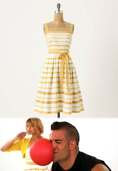 Quinn yellow stripe dress