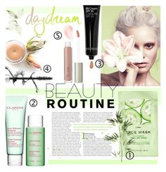 """""""Daydream"""" by einn-enna ❤ liked on Polyvore featuring beauty, Clarins, H&M, Bobbi Brown Cosmetics, Pier 1 Imports, Ilia, Lancôme, contestentry and beautyroutine"""