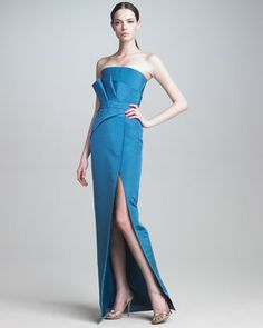 Folded-Bodice Gown by J. Mendel at Bergdorf Goodman. I really, really like this gown, I wish it came in red though!