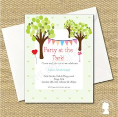 DIY Custom Printable Party at the Park Birthday by TheBritishRule