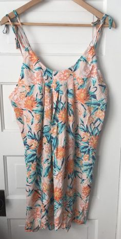 Tori Praver Seafoam Swim Cover Up Dress Floral Pink Green Sz S Small Rayon   Clothing, Shoes & Accessories, Women's Clothing, Swimwear   eBay!