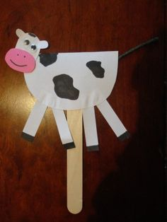 hey diddle diddle nursery rhyme craft cow