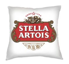 Capa de Almofada Cerveja Stella Artois.