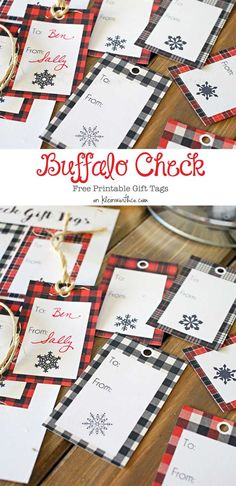 These Buffalo Check Free Printable Gift Tags will have all your Christmas gifts looking gorgeous. No need to buy, just print, snip & give – it's easy! Christmas gifts, holiday gifts, neighbor gifts & more. on kleinworthco.com