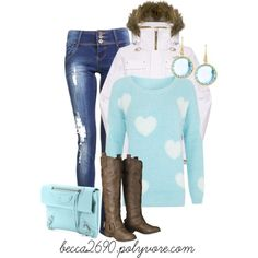 """Light blue winter day"" by becca2690 on Polyvore"