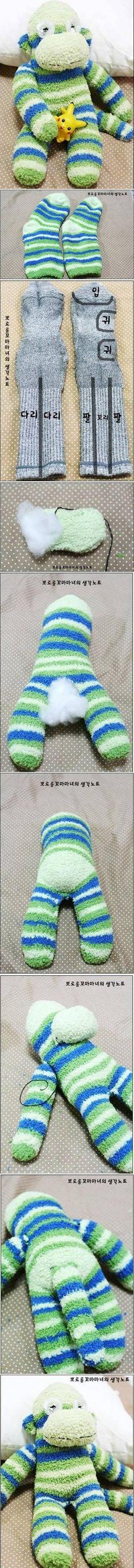 DIY носки обезьяны Терри DIY носки обезьяны Терри