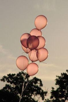 Pink Balloons, pastel