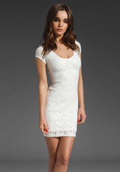 BACKSTAGE AM to PM Lace Dress in Ivory at Revolve Clothing - Free Shipping!
