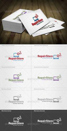 Repair Store  - Logo Design Template Vector #logotype Download it here: http://graphicriver.net/item/repair-store-logo/4263237?s_rank=374?ref=nexion