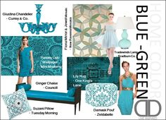 Aqua to Turquoise  Fashion Based Color Schemes for the Home | The Decorating Diva, LLC