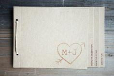 Programs made by bride and mother. Stamp from Etsy: studioGdesigns. Photography by borrowedblueoldnew.com