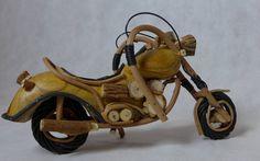 IMAGO Accessoires Motorrad aus Holz, für den Motorrad Liebhaber. Länge 30cm