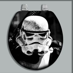 Custom Painted Airbrushed Toilet Seat Storm Trooper Standard Oblong Size | eBay