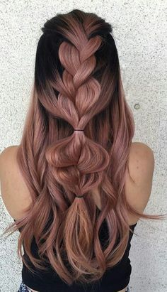 50 beautiful braids hairstyles for long hair - Braided hairstyles, . - 50 gorgeous braids hairstyles for long hair – braided hairstyles, - Box Braids Hairstyles, Pretty Hairstyles, Short Hairstyles, Hairstyles Videos, Ombre Hair, Pink Hair, Balayage Hair, Rose Gold Hair, Pastel Hair