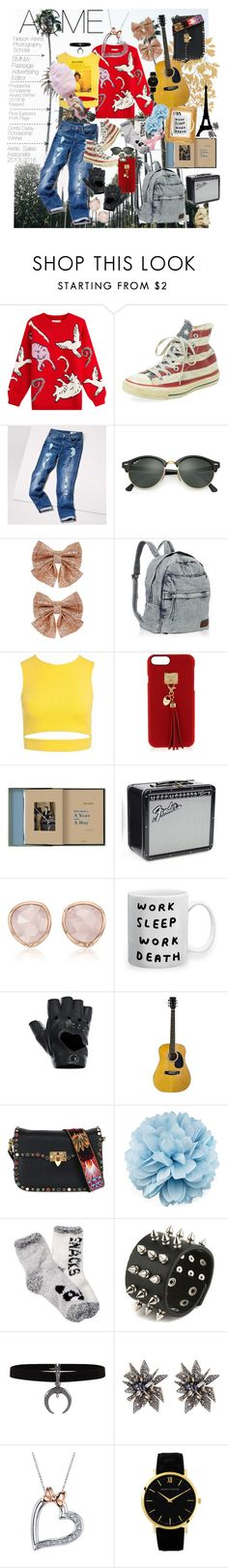 """""""Acme Application"""" by claire-marley on Polyvore featuring Paul & Joe, Converse, Tommy Hilfiger, Ray-Ban, Monsoon, Sans Souci, Henri Bendel, Columbia, Monica Vinader and FRACOMINA"""