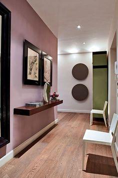 wohnzimmer deko bambus dekoration wand rot knall farben | wohnen ... - Wohnzimmer Deko Rot
