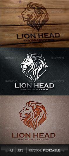 Lion Head Logo Template looooooooooooo