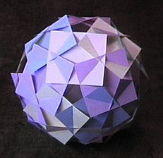 This page shows a type of paper polyhedral construction which is fun and easy to make because the pieces just slide together. Lots of different types, could be used for lightshades, decoration etc.