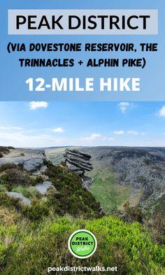 Dovestone Reservoir Walk (Including Trinnacles) - Saddleworth | 12-Mile Route - Peak District Walks Dartmoor, Snowdonia, Hiking Europe, Hiking Trips, Travel Inspiration, Travel Ideas, Travel Tips, Travel Destinations, Peak District England
