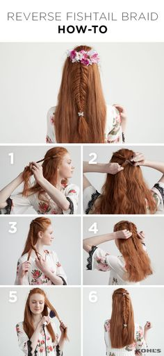 Give your flower crown a break this festival season and try a braided half updo. (It's easier than it looks!) 1. Separate the front of your hair into two sections, twist them each back to the crown of your head. 2. Secure both twisted sections with a hair tie. 3. Create a fishtail braid and secure it with another hair tie at the bottom. 4. Starting at the top of the braid and working your way down, gently pull on both sides to loosen and create volume. 5. Straighten the rest of your hair…