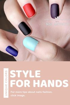 A lot of woman prefer to use colorful nail polish to feel good yourself or look sharp. However, choosing nail polish and paint's yourself nail ise. Matte Nail Polish, Nude Nails, Nail Polish Colors, Colorful Nail, Canned Heat, Simple Nails, Long Nails, You Nailed It, Nailart