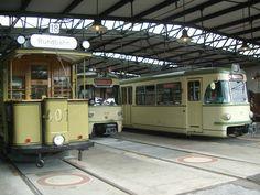 Wagenhalle im KVB-Straßenbahnmuseum Köln-Thielenbruch http://www.ausflugsziele-nrw.net/kvb-museum/