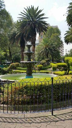 Fuente en el Jardín Tlacoquemecatl