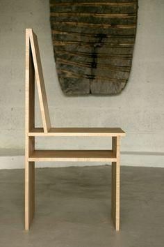 "Sawkille - Magazine chair, maple, 17"" seat, 15"" x 36"""