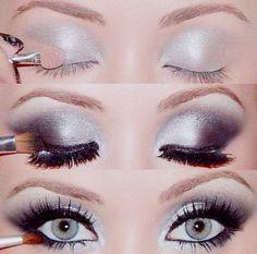 gorgeous black and white eye makeup