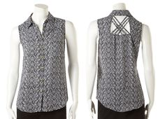 Cleo - Printed Criss-Cross Blouse