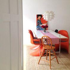 Spätsommerliebe daheim: Schönste Accessoires und Möbel in warmen Farben | Foto von Mitglied EGnord #SoLebIch #esszimmer #diningroom #red #orange #rot #latesummer