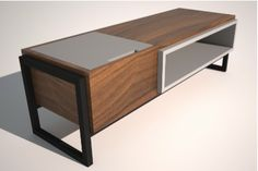 Beau Modern Bench (with Shoe Storage) By David Cox
