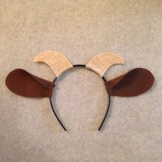 Princess In Black Party: Goat headband (to go with princess crowns and monster headbands)