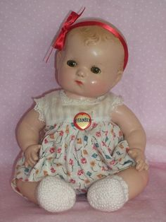 Effanbee 1930's Composition Patsy Baby Doll - Original Tagged Outfit