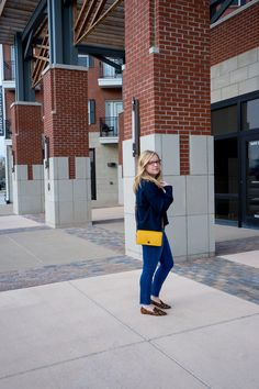 coach / skinny jeans / everlane / oversized sweater / loafers - Maggie a la Mode