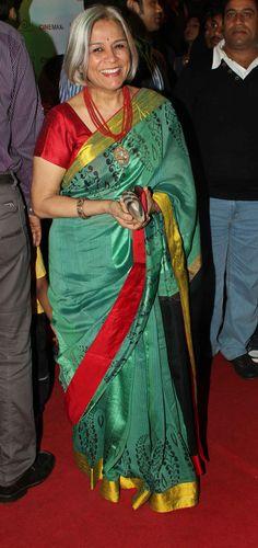saree worn elegantly...