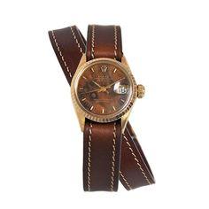 vintage-rolex-burl-wood-wrap-leather-watch Trumpetandhorn.com |
