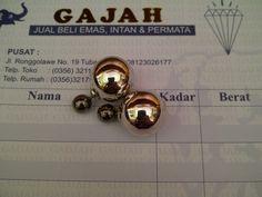 18k Black & White Gold Dior Earrings
