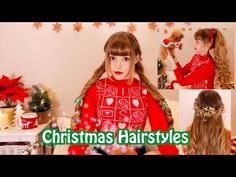 Easy, Fast & Cute Christmas Hairstyles - https://www.avon.com/category/bath-body/hair-care?repid=16581277 Shop Hair Care Products  [[Turn on CC for SUBTITLES]] [字幕はCCをつけてね!][請開啟cc按扭] It's great to be back! I missed you! Today I'm showing you 3 easy, fast, and cute Christmas hairstyles. They're perfect for Christmas parties, dinners or just chilling at home with your family and friends! Music by: 1. Mariah Carey- All I want for