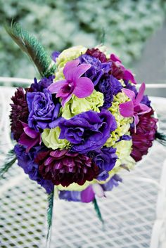 peacock inspired centerpieces - Google Search
