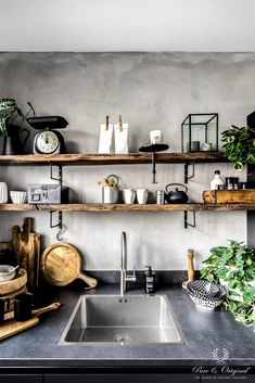 The beautiful home of a Swedish interior stylist The b., The beautiful home of a Swedish interior stylist The beautiful home of a Swedish interior stylist. Grey Kitchens, Home Kitchens, Rustic Kitchen, Kitchen Decor, Kitchen Grey, Diy Kitchen, Kitchen Ideas, Küchen Design, House Design