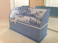 Blue letter rack