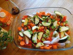 Edels Mat & Vin: Svinefilet på grønnsakseng ♫♫♥ Healthy Food, Healthy Recipes, Pork Loin, Salsa, Food And Drink, Baking, Ethnic Recipes, Healthy Foods, Pork Fillet
