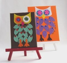 owl craft by and creations Ideas Owl Crafts, Crafts For Kids, Arts And Crafts, Owl Theme Classroom, Bright Art, Kindergarten Art, Preschool, Owl Art, Art Plastique