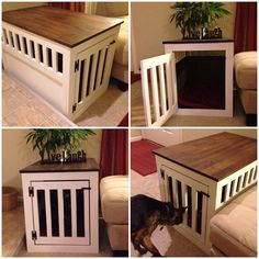 Dog Crate Cover, Pet Crate Cover, Dog Crate Furniture, Wood Dog Crate  Cover, Dog Kennel Cover, Dog Crate End Table By CratesAndPine On Etsy  Https:/u2026