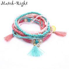 Zmzy Brand Boho Tassel Charm Bracelet Bohemia Style Friendship Seed Beads Women Bracelet Rope Chain Stone Jewelry Gift Drop Ship Discounts Sale Jewelry & Accessories