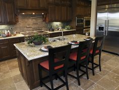 Eat in dining kitchen island