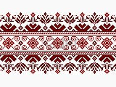Illustration about Vector illustration of ukrainian folk seamless pattern ornament. Illustration of crissold, handicrafts, border - 38546614 Cross Stitch Borders, Cross Stitch Designs, Cross Stitch Patterns, Embroidery Stitches, Embroidery Patterns, Palestinian Embroidery, Square Canvas, Artisanal, Handicraft